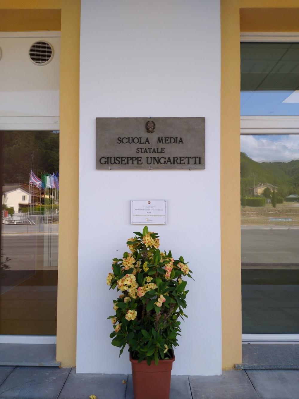 """Ghivizzano, inaugurazione scuola media """"Giuseppe Ungaretti"""""""