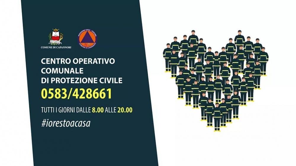 Numero telefonico per i cittadini Centro Operativo Protezione Civile