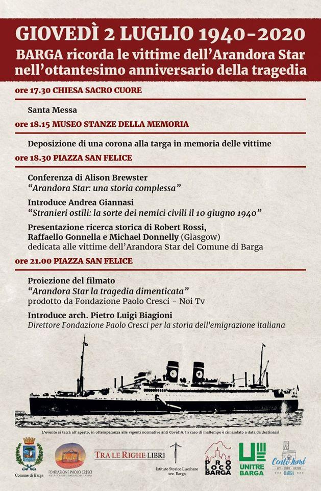 Commemorazione Italiani Arandora Star