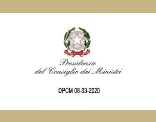 DPCM 8 marzo 2020