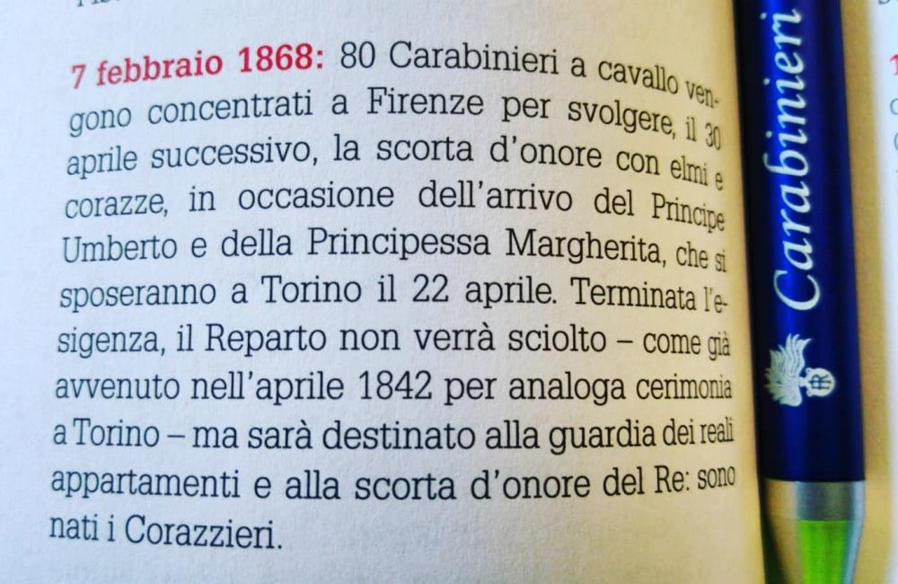 Estratto dall'Agenda 2020 dei Carabinieri