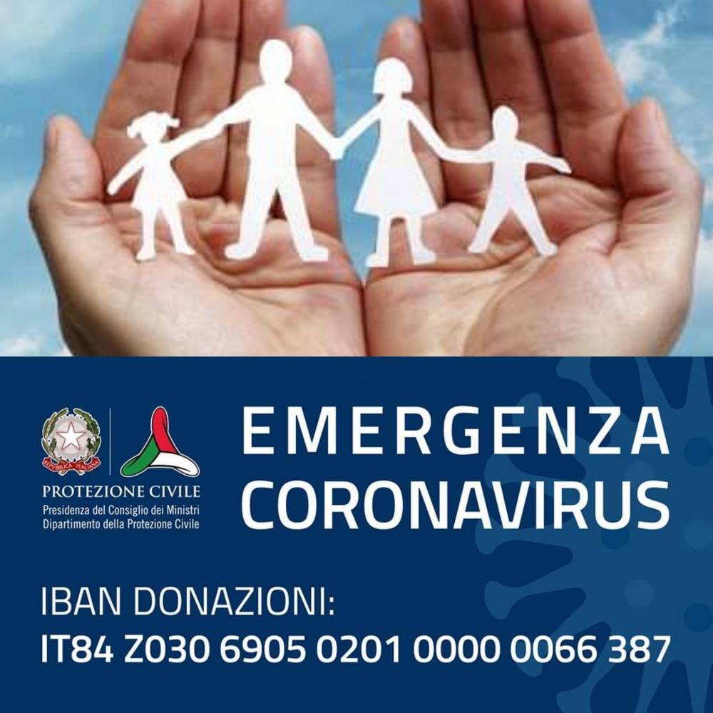 Aperte le donazioni alla Protezione Civile per fronteggiare l'emergenza COVID-19