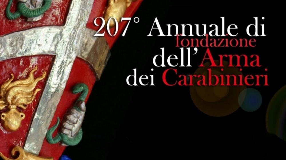 Stemma vessillo carabinieri anniversario della fondazione