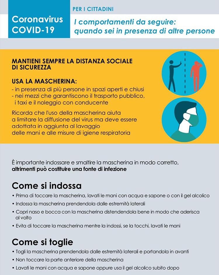 entra in vigore a Lucca l'obbligo di indossare la mascherina