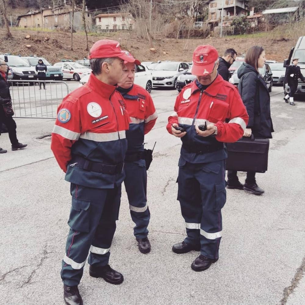 Servizio vigilanza Presidente Sergio Mattarella in visita a Sant'Anna di Stazzema
